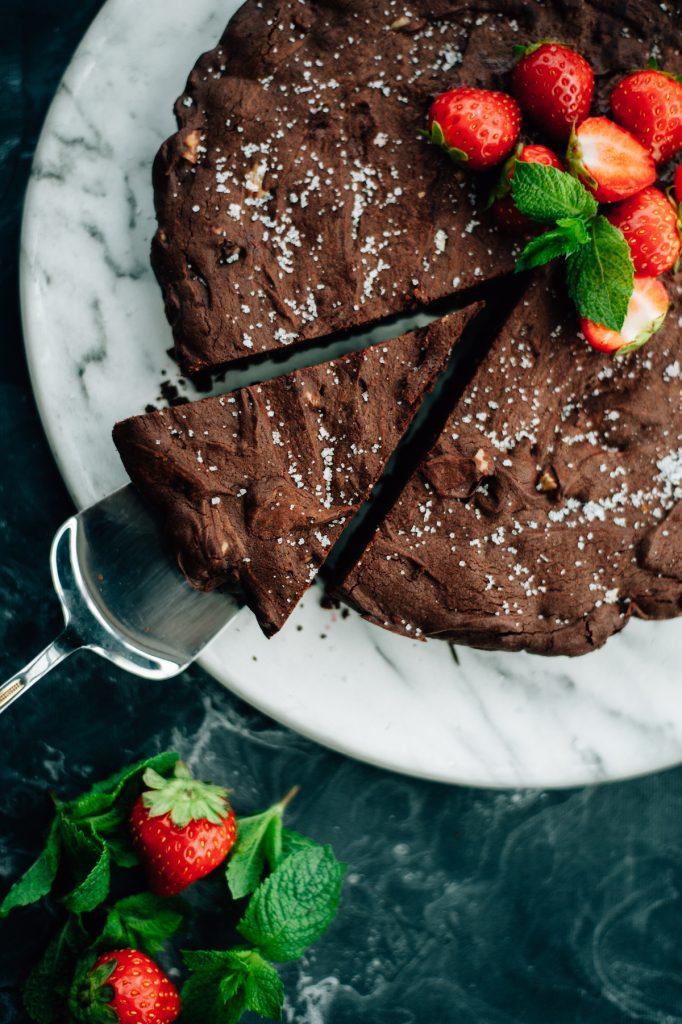 Foodfotografie chocoladetaart en styling