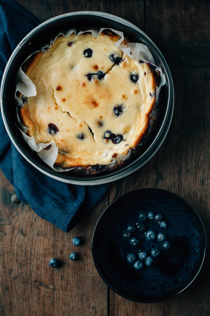 Foodfoto blueberry cheesecake