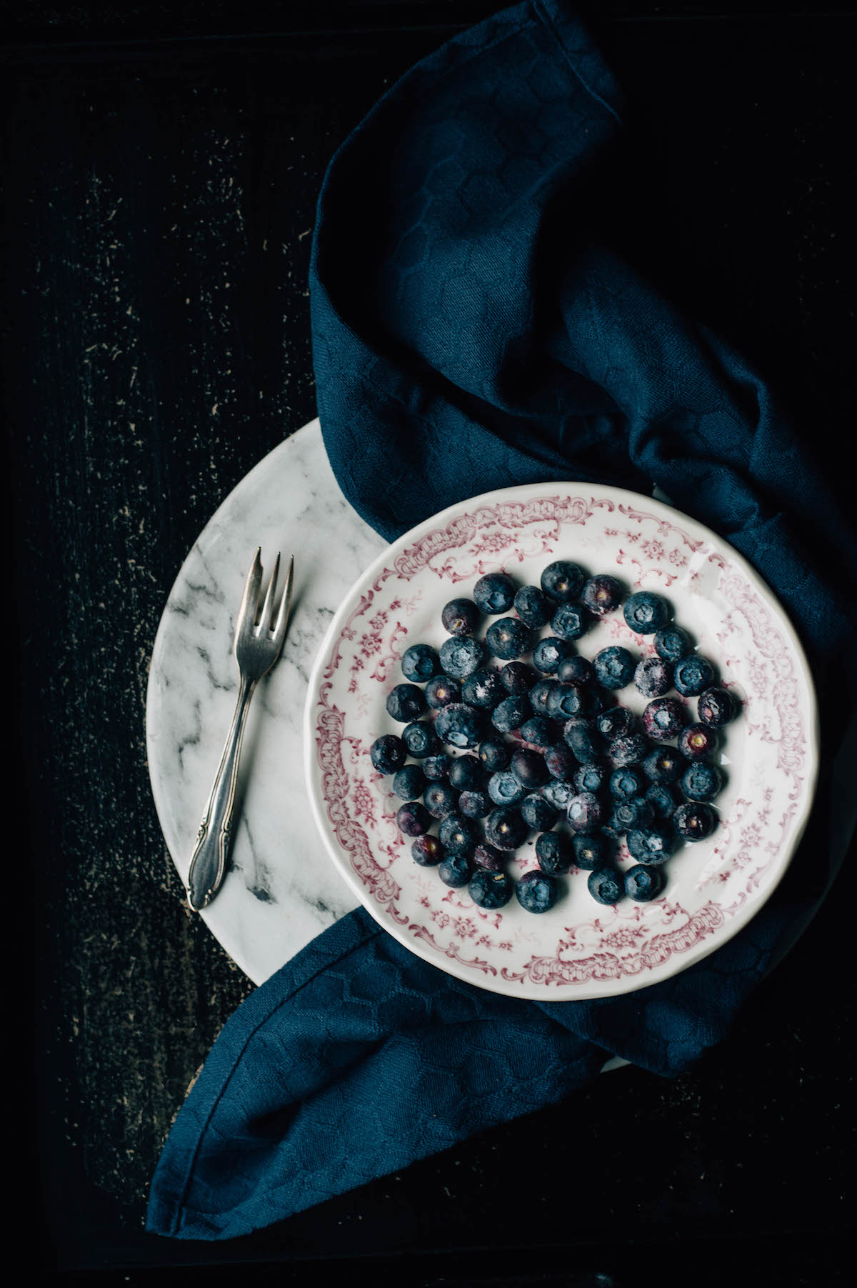 blueberry styling vintage bord